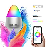 Koogeek LED Light Bulbs, Wi-Fi Smart Night Light Bulb E26, Color Changing Dimmable Compatible with Alexa Apple HomeKit and the Google Assistant No Hub Required Voice Control Remote Control
