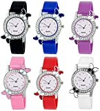Styllent New Butterfly Colourful Stylish Combo Watch for Girls | New Arrival Special Collection for Independence Day