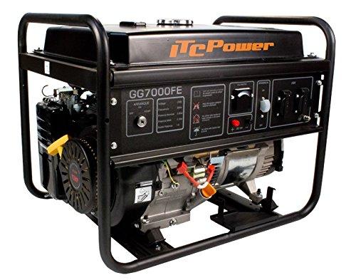 ITCPower, GG7000FE, Generador Eléctrico Gasolina, 5000 W, 230 V, Negro