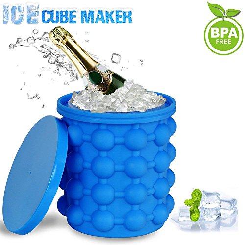 Ice Cube Maker, Silicone Secchiello Per Il Ghiaccio , Secchiello Refrigeratore Per Bevande Risparmio...