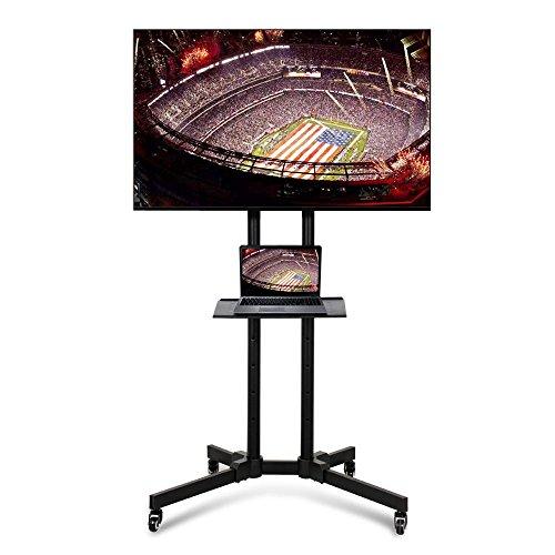 Yaheetech Carrello Supporto Porta TV con Ruote a Terra con Ripiano per Monitor TV LCD LED Plasma da...
