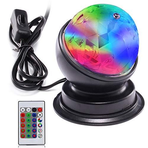 Luci da discoteca a LED, luci da palco AVAWAY Luci da DJ attivate da musica RGB con telecomando e...