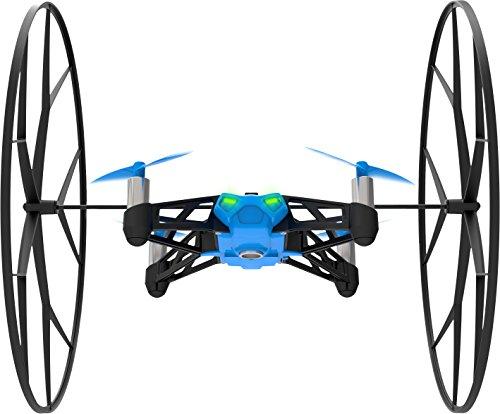 Parrot Minidrones Rolling Spider Drone, Blu/Nero