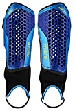 Mitre Aircell Carbon Unisex Ankle Protect Football Shinguard, Blue (Blue/Cyan/Yellow), Small