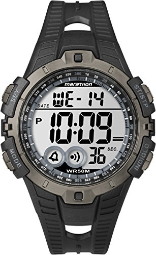 Timex T5K802 Orologio da Polso, Quadrante Digitale Unisex, Cinturino in Resina, Nero/Grigio