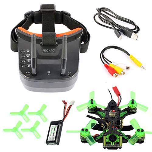 FEICHAO Mantis85 85mm FPV Racing Drone Quadcopter BNF con fotocamera 600TVL Mini Video Goggles per...