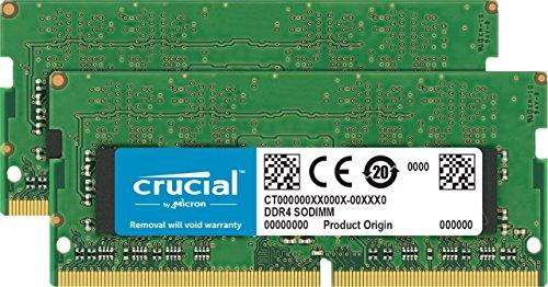 Crucial CT2C16G4S24AM Memoria da 32 GB Kit (16 GBx2), 2400 MT/s, Verde