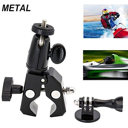 EXSHOW Supporto fotocamera bici moto acquascooter - Sostegno universale macchina fotografica con tripiede per manubrio bicicletta per p.e. GoPro Hero 7 6 5 Nikon Canon Olympus( con 1/4 vite )