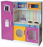 Leomark Cocina grande y brillante Cocina de juguete con accesorios, Juguete para Niñas, Juego de Imitación, cocina madera infantil, cocina niños