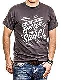 Maglietta Better Call Saul - T-Shirt Breaking Bad Uomo Grigio XL