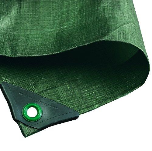 NOOR Abdeckplane HOBBY 120g/m² Grün I 2 x 2 m I Allzweckplane für Schutz vor Witterung I Ideal geeignet für den Garten I UV-stabilisiert, beidseitig beschichtet, wasserfest, abwaschbar & langhaltig