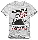 Bisura T-Shirt Better Call Saul Breaking Bad By (M Uomo, Bianco)