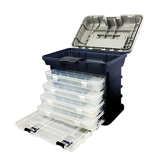 Gossipboy multifunzione-pesca-Box-Lure-Accessori- mano-portatile-custodia-per-applicazioni artistiche con 4 cassetti e divisori regolabili-Grande capacità