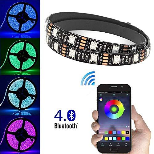 4m USB Striscia LED Bluetooth APP Controllo smartphone, RGB 5050 Cambia colore flessibile...