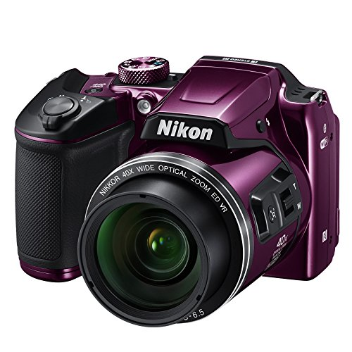 "Nikon COOLPIX B500 - Cámara Digital de 16 MP (4608 x 3456 Pixeles, TTL, 1/2.3"", 4-160 mm), púrpura"