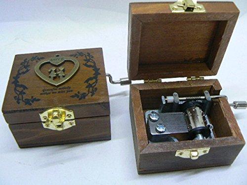 Music Box,CARILLON,Strumento Musicale,Scatola Magica in legno Decorato – Andoer retro wooden M