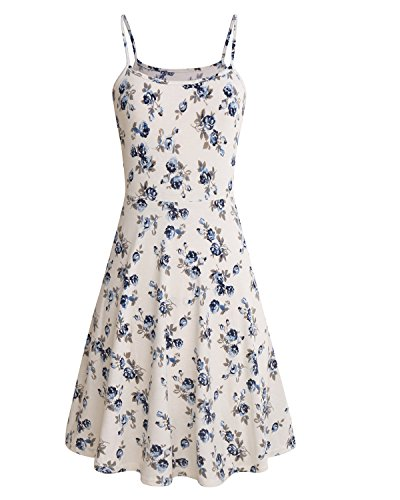 SOLERSUN Womens Sleeveless Summer Dress Floral Printed Adjustable Spaghetti  Strap Dresses - SixtySomething - Over Sixty Lifestyle Magazine 05decd580