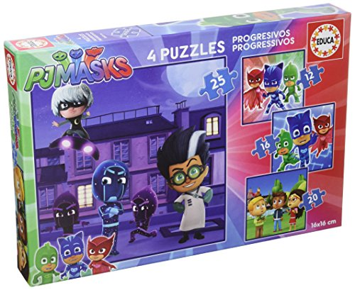 Educa borrás – 17273 – progressivi PJ Masks 12 – 16 – 20 – 25