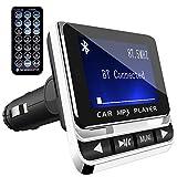 Transmisor FM Bluetooth para Coche, Tohayie Reproductor MP3 Mechero de Coche, Manos Libres Coche, Ranura para Tarjeta de Micro SD, USB Memoria, Puerto de 3.5mm de Entrada de Audio para Móviles, Tablet, MP3, etc