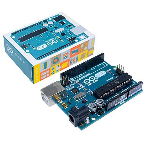 Si tratta di un vero e proprio nuovo Arduino Uno R3. Das Arduino Uno Board è un microcontroller basato sul ATmega328. Dispone di 14Pin di ingresso/uscita digitali (di cui 6possono essere utilizzati come uscite PWM), 6ingressi analogici, un...