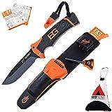 Gerber Bear Grylls Ultimate Pro Knife, Survival Messer, Feuerstarter, Messerschärfer, Signalpfeife & Survilalguide, inkl. dem REDTENT MT