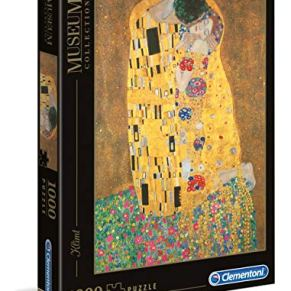 Clementoni- Museum Collection-Klimt: Il Bacio Gustav Pingüinos De Madagascar Puzzle, 1000 Piezas, Multicolor, 12+ (31442…