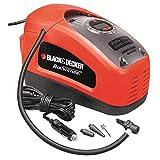 Black+Decker ASI300-QS - Compresor de aire, 160 PSI, 11 bar, Rojo/Negro