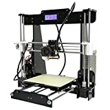 Anet A8 DIY 3D Printer Kits Reprap MK8 Extruder Nozzle Acrylic Frame LCD Screen with 8GB SD Card Filament Free Large Printing Size 220*220*240MM