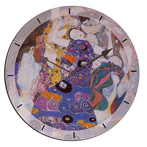 Artopweb Klimt Virgin Orologio da Parete, Legno