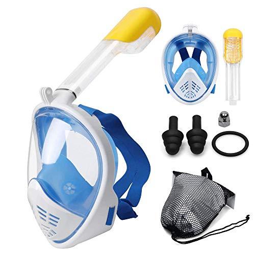 Jukkre Full Face Scuba Diving Mask Snorkel Swimming Goggles Under Water Anti-Fog (Multi)