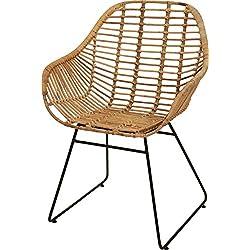 Korb-Sessel aus echtem Rattan