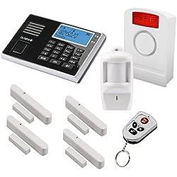 Olympia Protect 9061 GSM Funk Alarmanlage Super-Set mit Außensirene, Bewegungsmelder, Tür Fenster/Kontakten und Fernbedienung