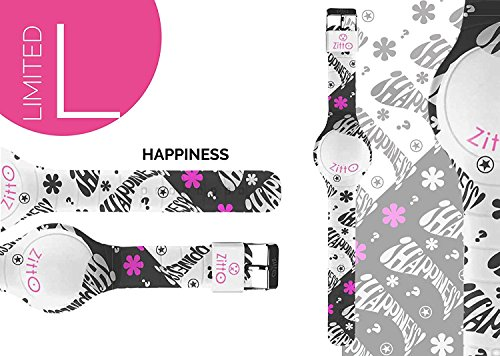 Orologio ZITTO piccolo a led con cinturino in silicone Limited Edition HAPPINESS P