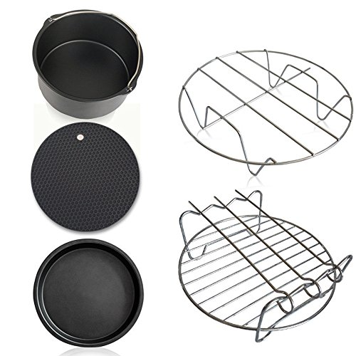 Sufeng Home Kitchen Tool Air Frying Pan Accessories Baking Basket Pizza Plate Grill Pot Mat -5 PCs