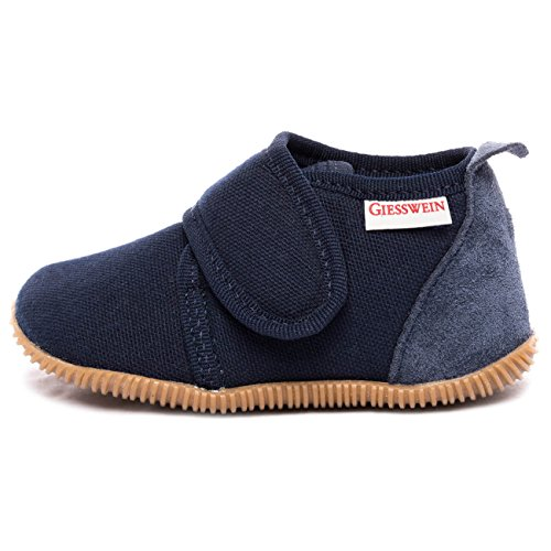 Giesswein Strass - Slim Fit, Pantofole a Collo Basso Unisex-Bambini, Blu (Dk.Blau 548), 20 EU