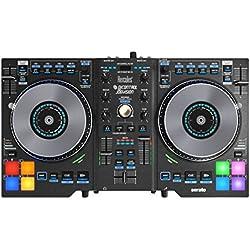 Hercules DJ Control Jogvision (2-Deck DJ Controller, Air Control, 8 Performance-Pads, Audio In/Out, Serato DJ Intro, PC / Mac)