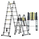 Teleskopleitern DD, Aluminiumlegierungsleiter - Klappbare Leiter, Gerade Leiter zum Heben, Technische Treppe (größe : 4.1m+4.1m=8.2m(26.9 ft))