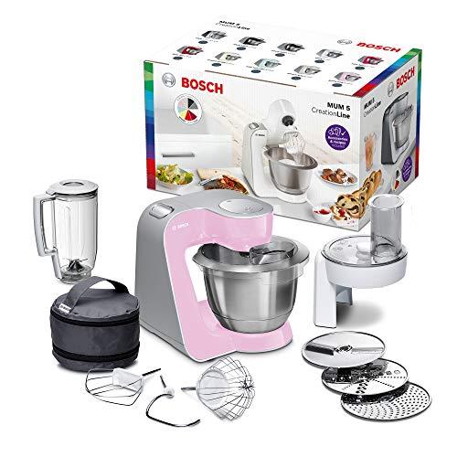 Bosch MUM58K20 Macchina da Cucina 3,9 L, Acciaio inossidabile, Argento/Rosa