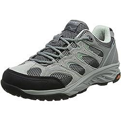 Hi-Tec Wild-Fire Low I Waterproof, Zapatillas de Senderismo para Mujer, Gris (Cool Grey/Graphite/Iceberg Green), 42 EU