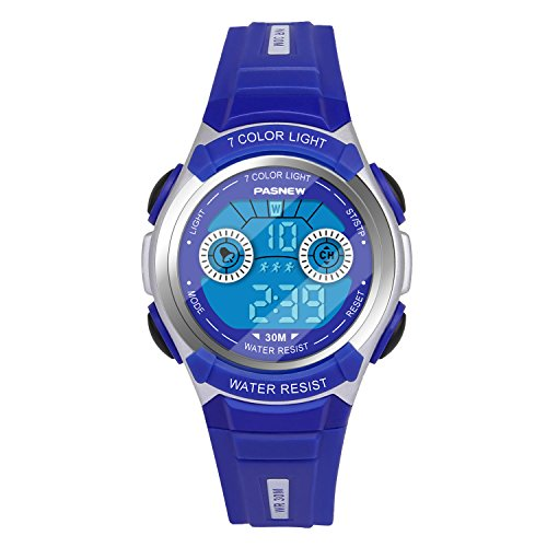 Hiwatch Orologio Digitale per Bambini Multifunzionale a LED e Impermeabile e Resistente all'acqua