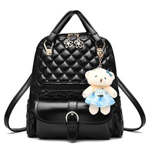 d721c97f792 Dunland women PU Leather Designer Mini Backpack Purse Handbag for Women and  Girls