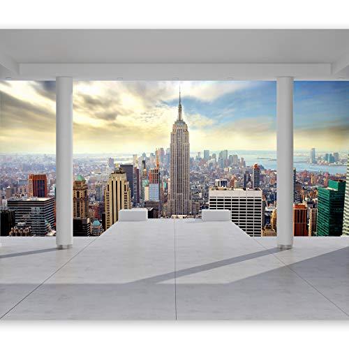 murando Carta da parati 400x280 cm Fotomurali in TNT Murale alla moda Decorazione da Muro XXL Poster Gigante Design Carta per pareti Citta New York Architettura 10110904-35