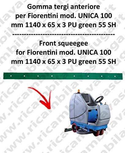 UNICA 100 GOMMA TERGI anteriore per lavapavimenti FIORENTINI