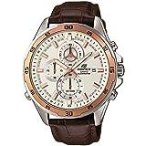 Casio EDIFICE Reloj en caja sólida de acero inoxidable, 10 BAR, Bronceado, para Hombre, con Correa...