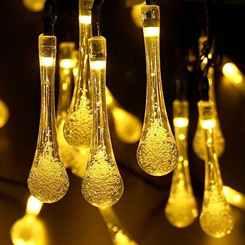 Magiclux Tech 8 m 40 LED luci da giardino / Fairy Water Drop lampada illuminazione esterna, 8...