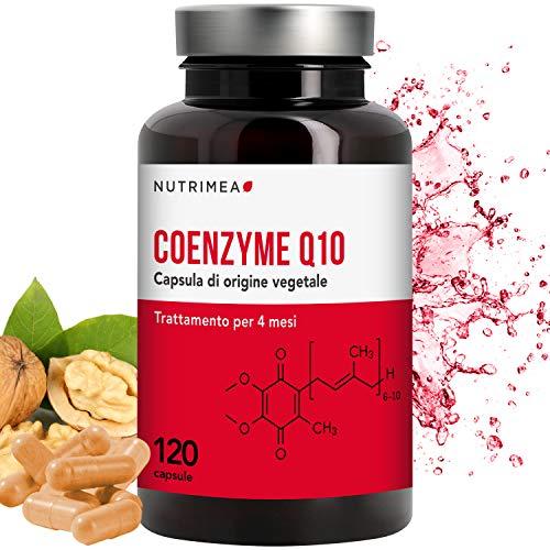 COENZIMA Q10 100 mg • 120 Capsule di Origine Vegetale di Coenzima Q10 Ubichinone • Integratore Naturale Antiossidante, Anti Rughe, Protegge il Sistema Cardiovascolare, Aumenta le Difese Immunitarie • Cura 4 MESI • Registrato presso il Ministero della Salute
