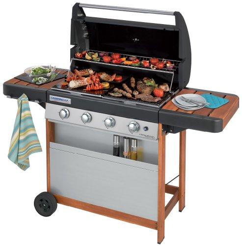 Campingaz Barbecue a Gas 4 Series Woody L, Grill BBQ Con 4 Bruciatore, 12,8 kW di Potenza, Sistema...
