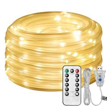 LE Tube Lumineux Extérieur LED USB Etanche Guirlande Lumineuse LED Extérieure pour Décoration Jardin Arbre Terrasse Pergola Tonnelle