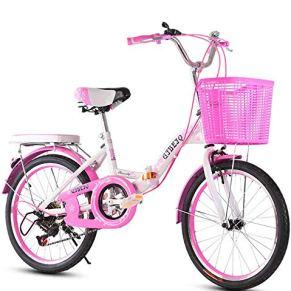 HJTLK Bicicletas para niños: Bicicleta para niños de Velocidad Variable, Bicicleta compacta Plegable, Freno Doble, con Asiento Ajustable 8-16 años Bicicleta de montaña para Bicicleta de Carretera