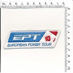 """Parche, Parches Termoadhesivos,Parche Bordado Para la Ropa Termoadhesivo, Patch """"EUROPEAN POKER TOUR E.P.T"""